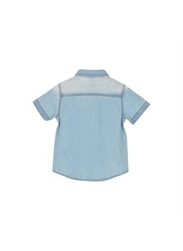 Silversun Kids Erkek Bebek Açık Denim Cepli Kısa Kollu Kot Gömlek- Gc 116081 Mavi